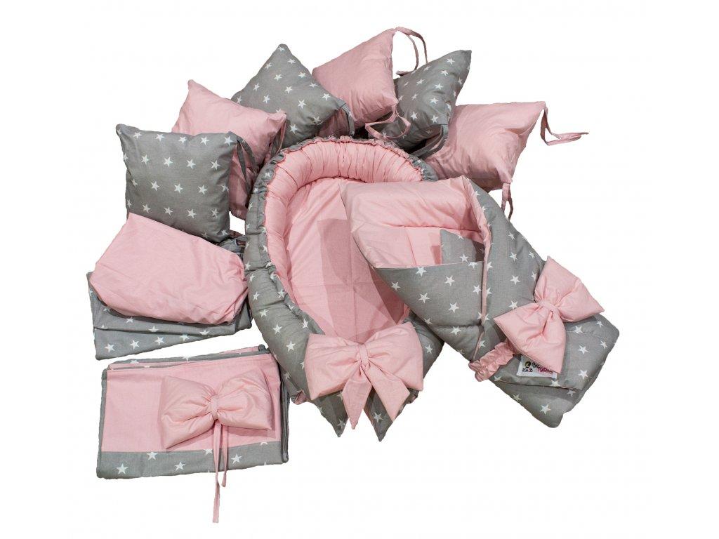 "Výbavička pro miminko ""XL"" - Stars pink"