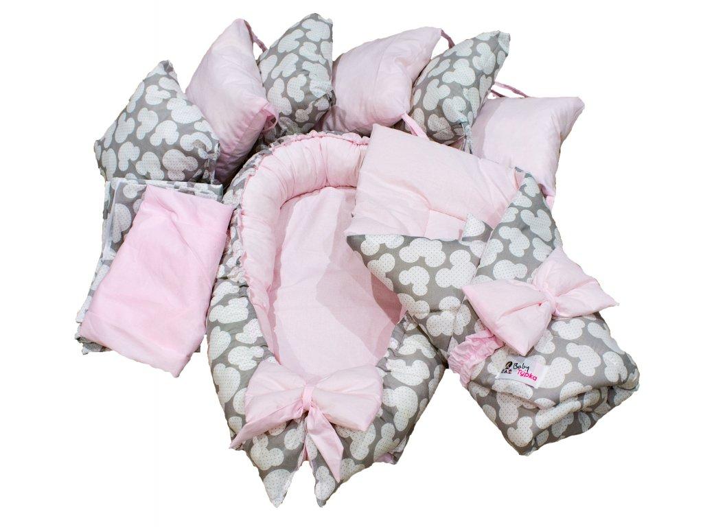 """Výbavička pro miminko """"L"""" - Mickey pink"""