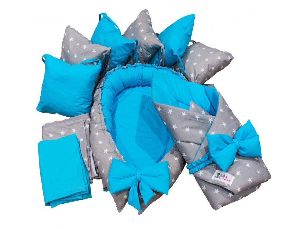 """Výbavička pro miminko """"L"""" - Stars blue"""