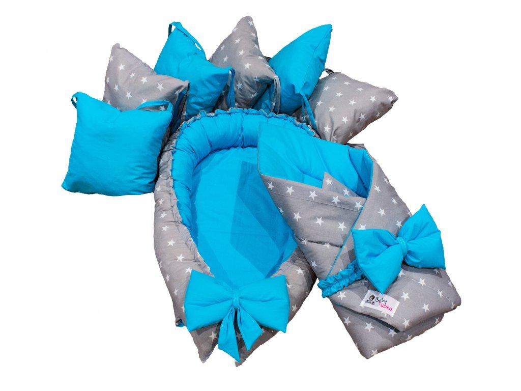 """Výbavička pro miminko """"S"""" - Stars blue"""