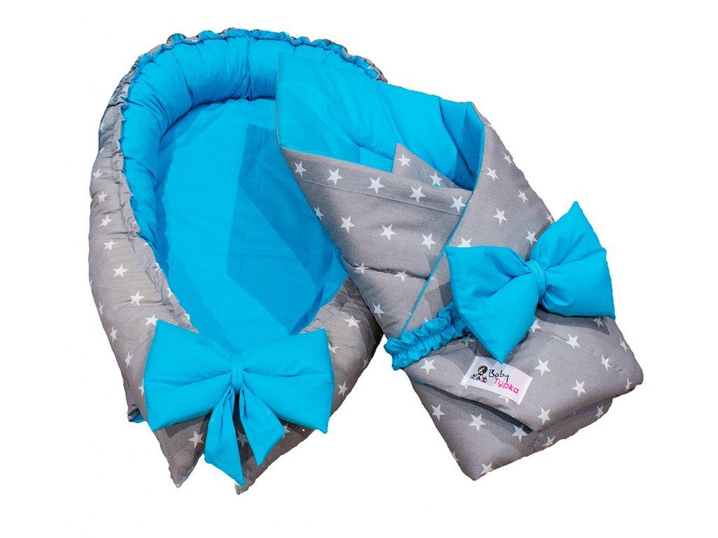 "Výbavička pro miminko ""mini"" - Stars blue"
