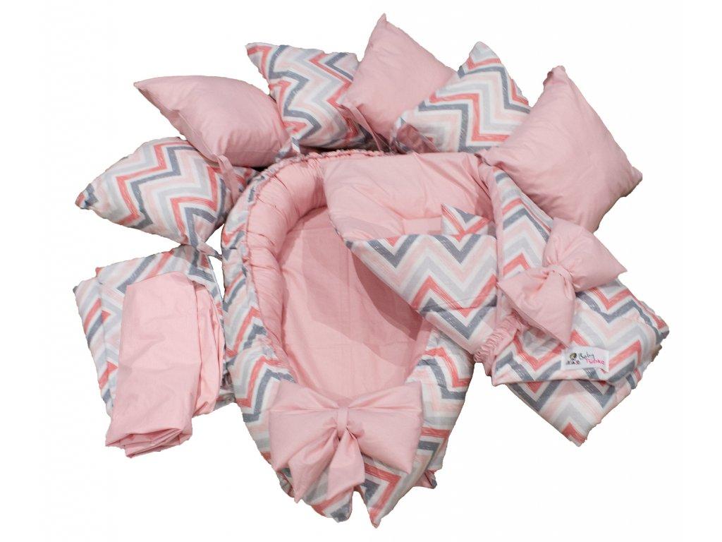 "Výbavička pro miminko ""L"" - Chevron pink"