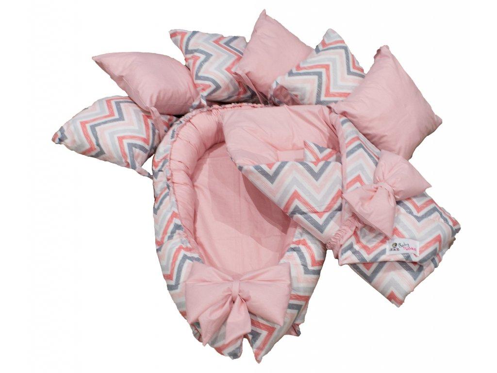 "Výbavička pro miminko ""S"" - Chevron pink"