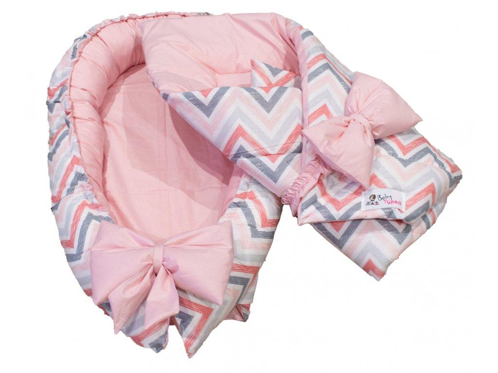"Výbavička pro miminko ""mini"" - Chevron pink"