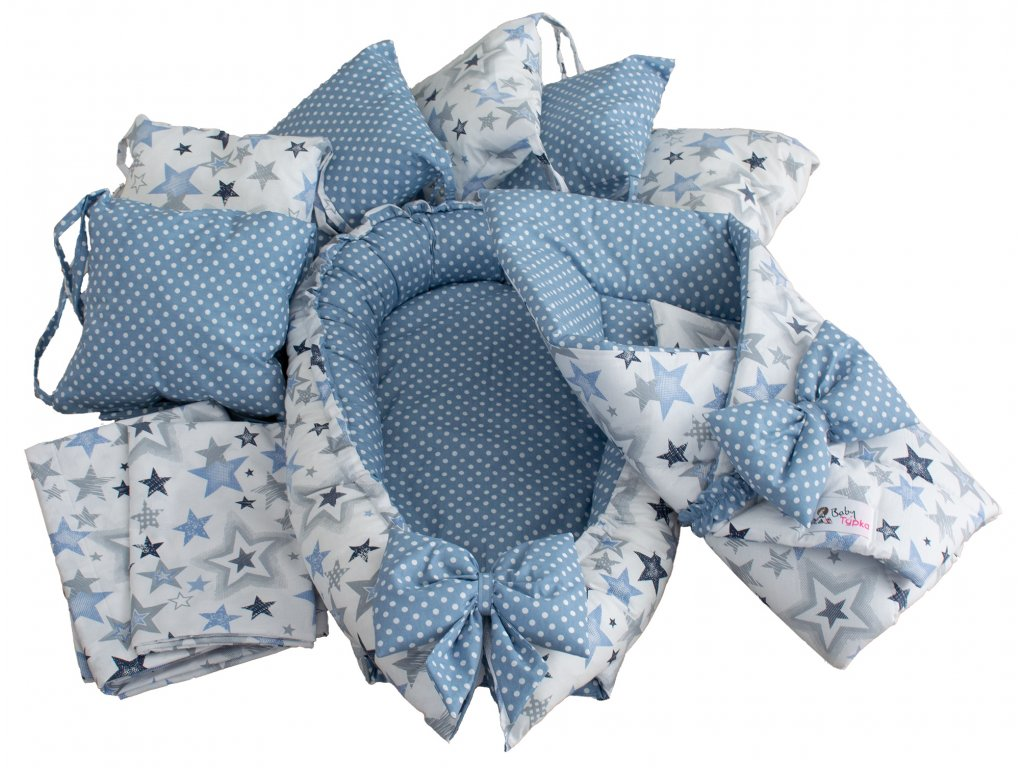 """Výbavička pro miminko """"M"""" - Sky blue"""