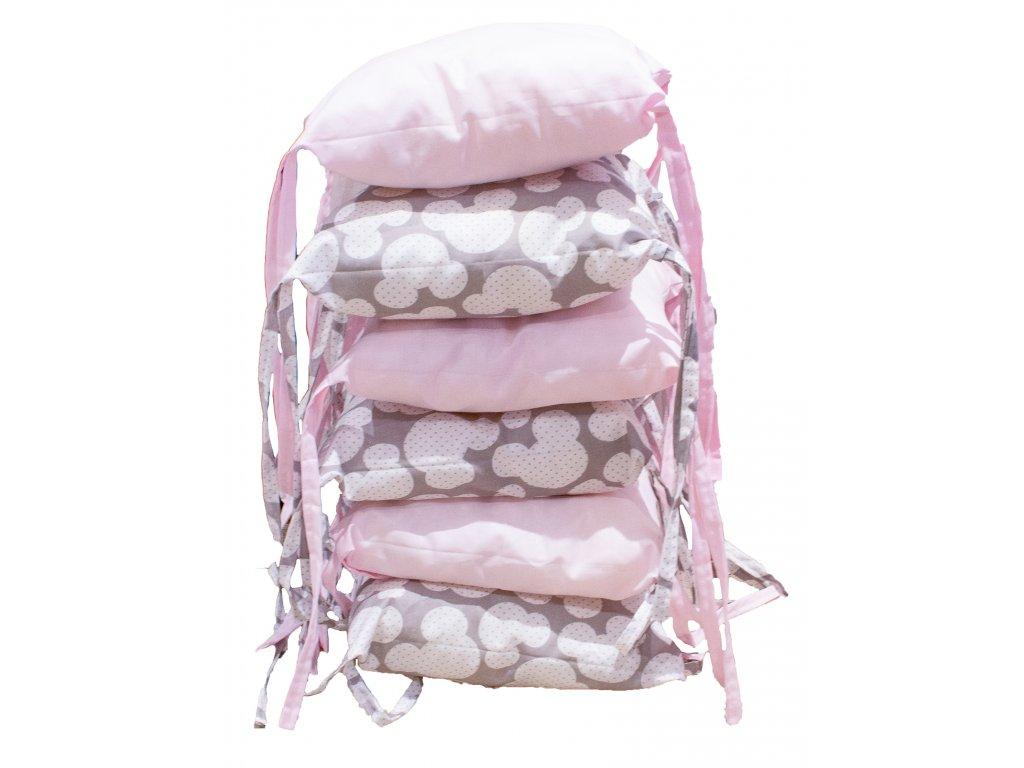 Polštářkový mantinel - Mickey pink