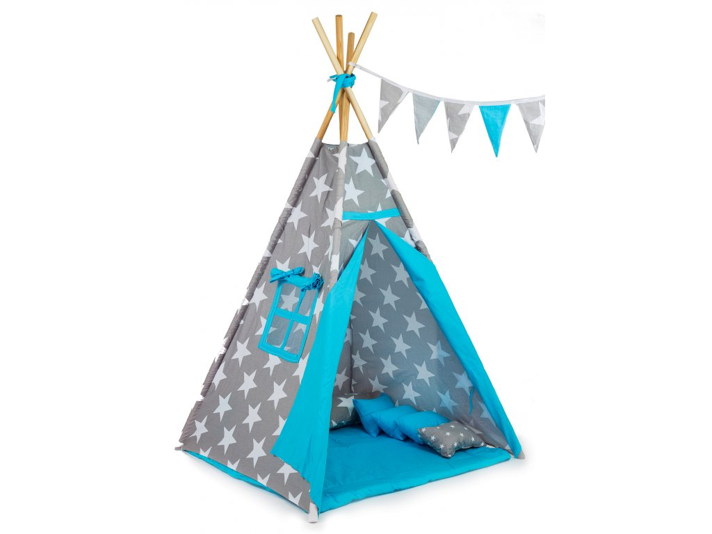 Dětský stan teepee King blue