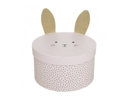 a3214 stoarge box round pink small