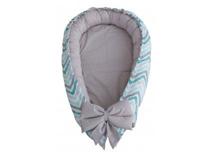Hnízdečko - Cikcak Mint Grey