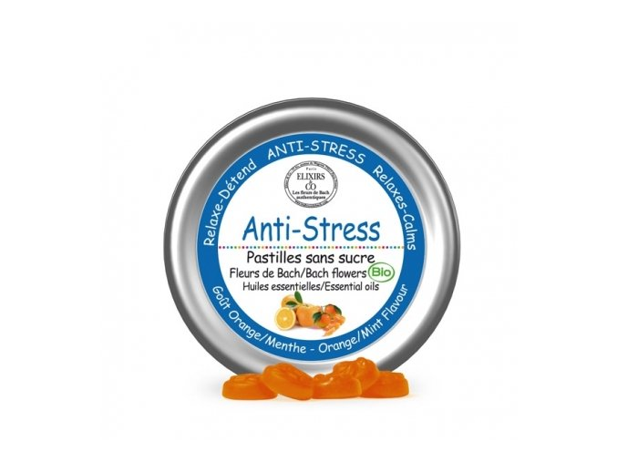 Pastilky Anti stress BIO Bachove esencie