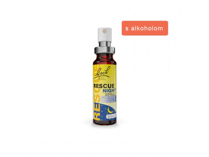 rescue night sprej alkohol
