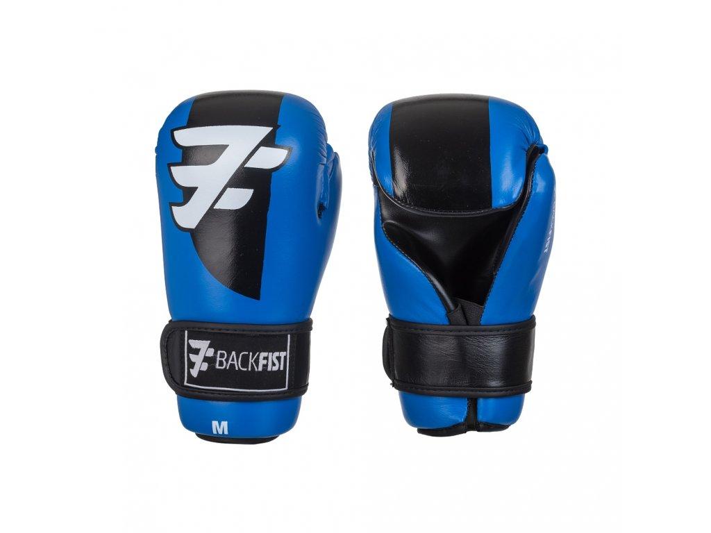 Otevřené boxerské rukavice BackFist Competition - modré