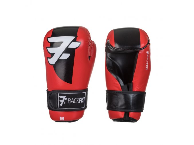 Otevřené boxerské rukavice BackFist Competition - červené