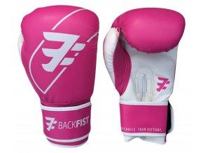 Backfist TG1 - Tréninkové boxerské rukavice růžové 10 OZ