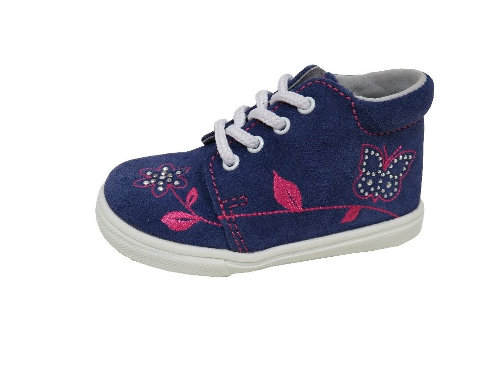 caf854b8902 Celoroční obuv Jonap modrá-kytka