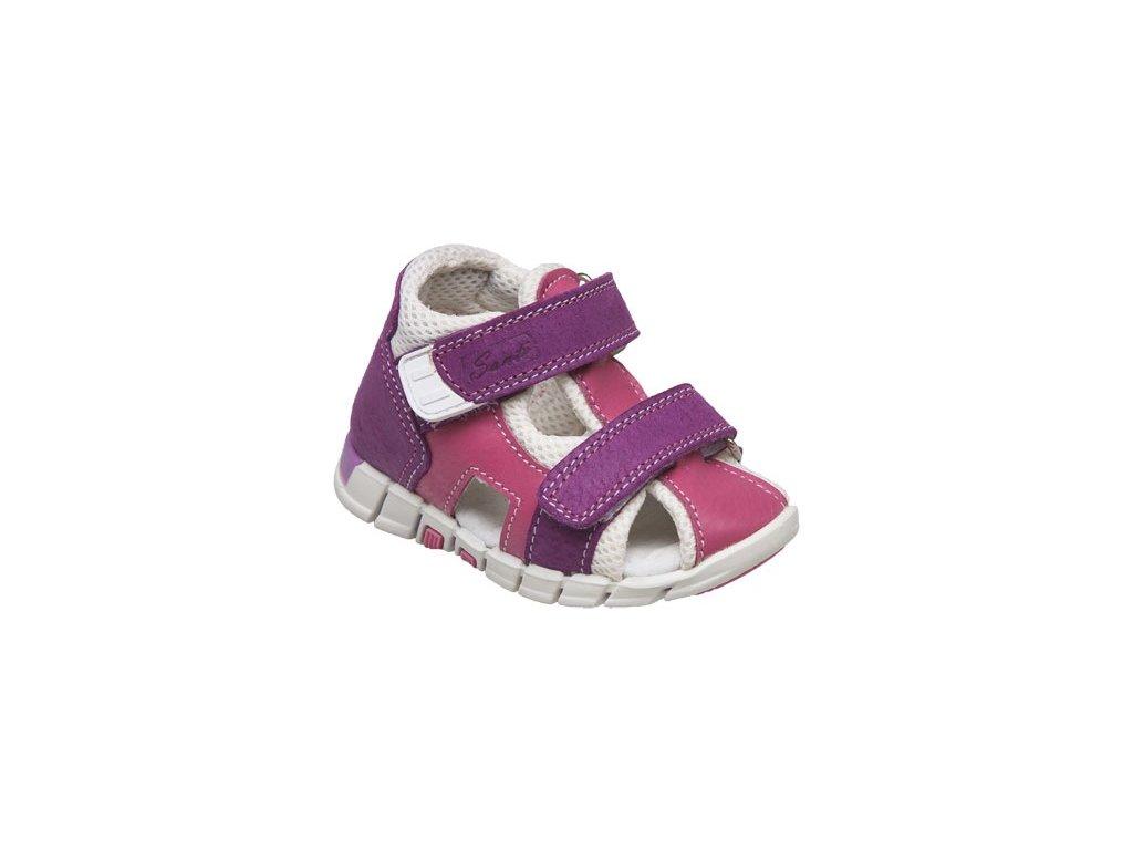 9e23b9a05de Kožené sandále Santé bílo fialová