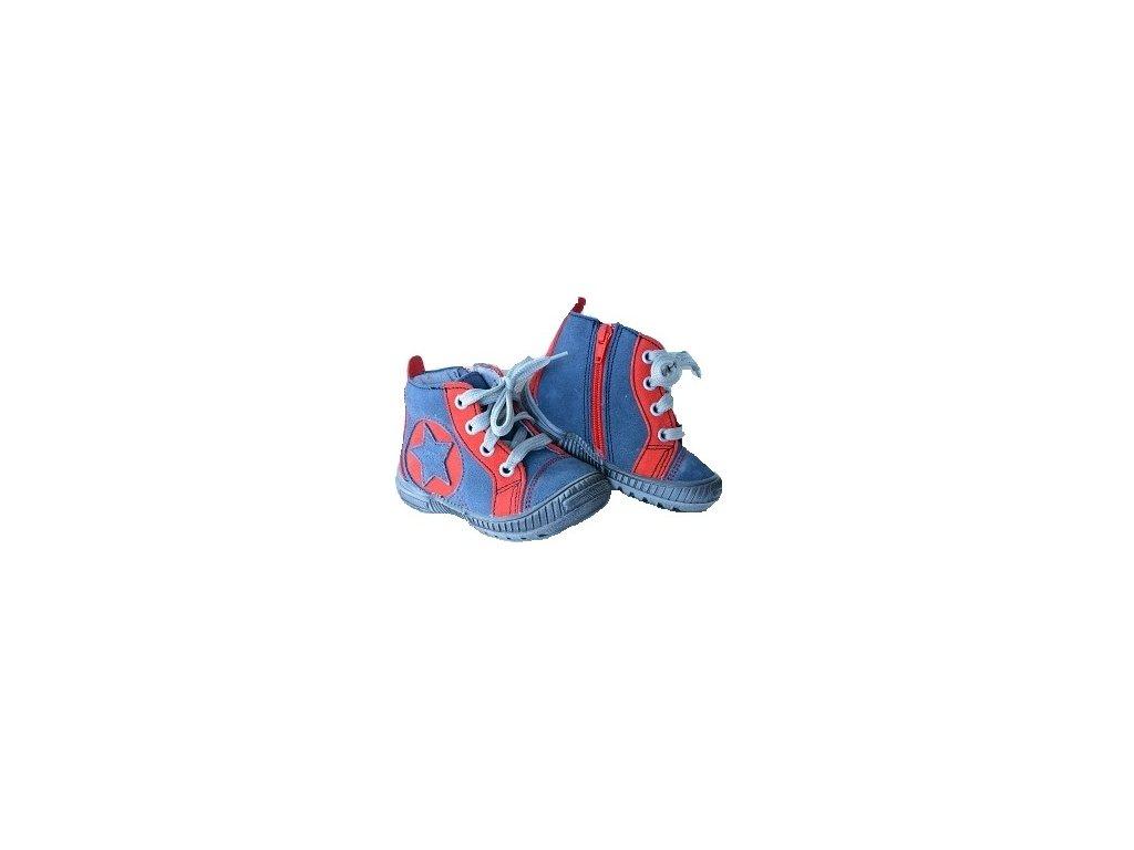 87821de90c Santé Paris Modročervená. Dětská celoroční obuv