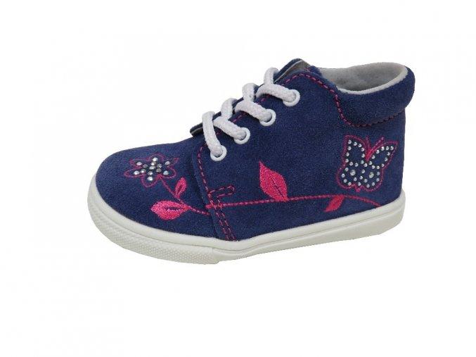 Celoroční obuv Jonap modrá-kytka
