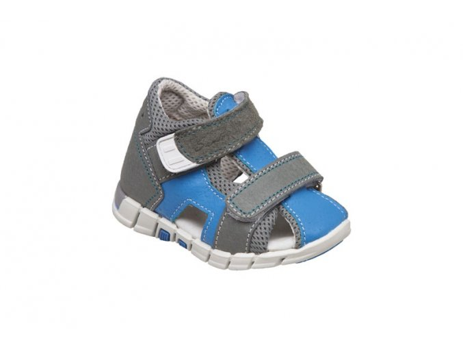 Kožené sandále Santé bílo/modrá