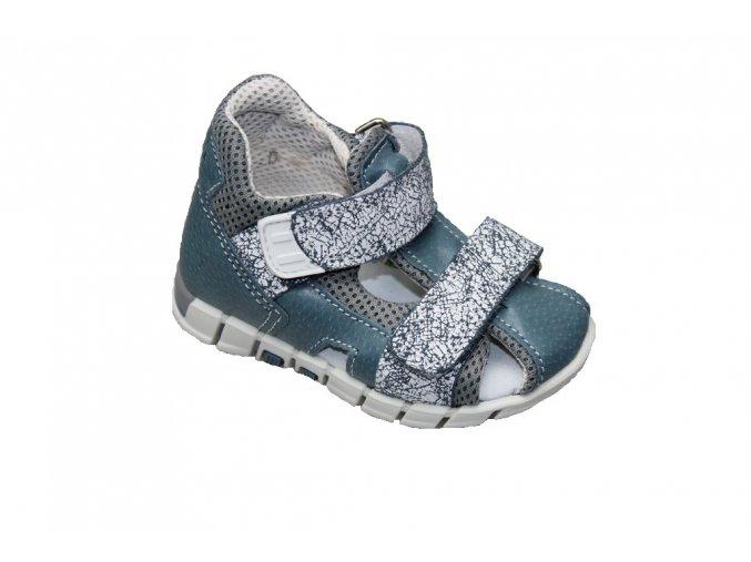 Kožené sandále Santé šedé