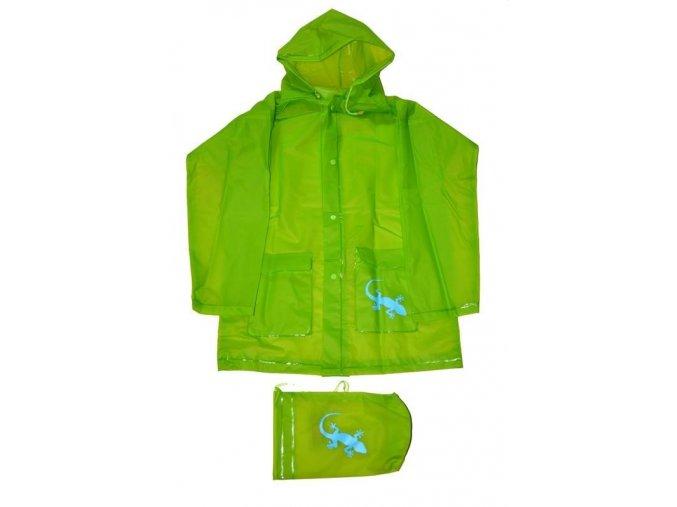 Pláštěnka zelená/ještěrka + pytlí