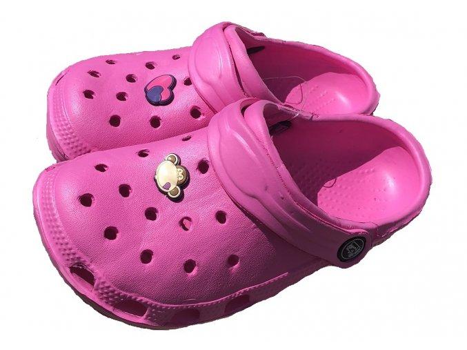 Plážová obuv růžová