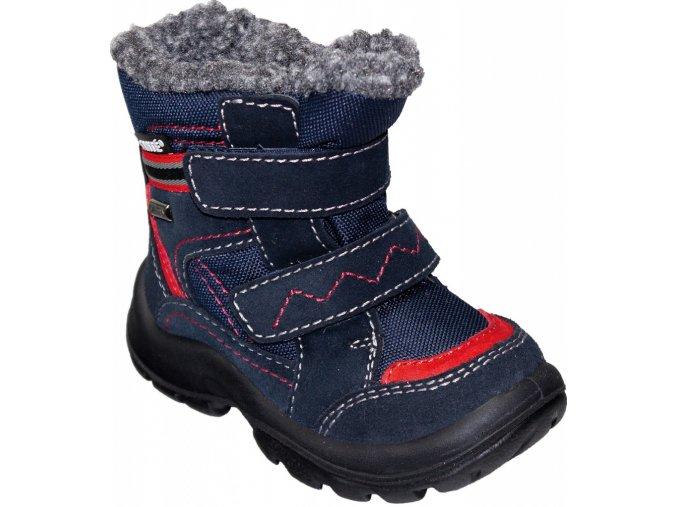 Santé zimní obuv s membránou LONTRA modro/červená