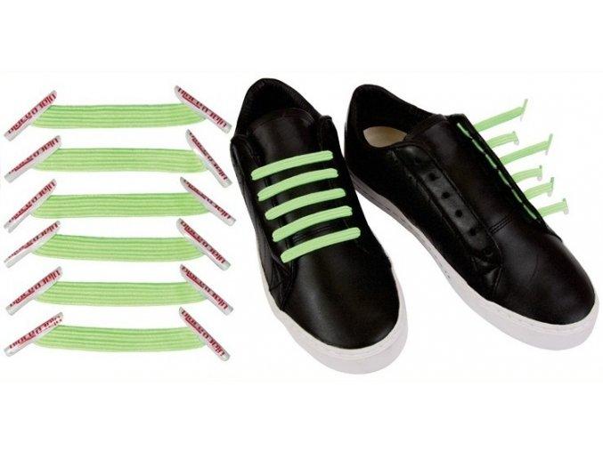 Zazračné tkaničky -světle zelená