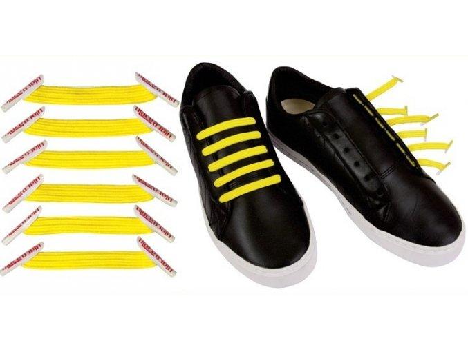 Zazračné tkaničky -žlutá