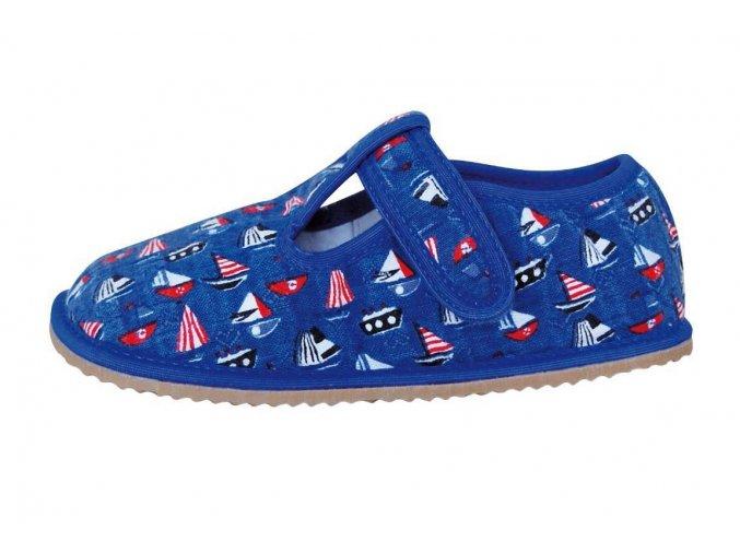 Domácí obuv Protetika raven blue