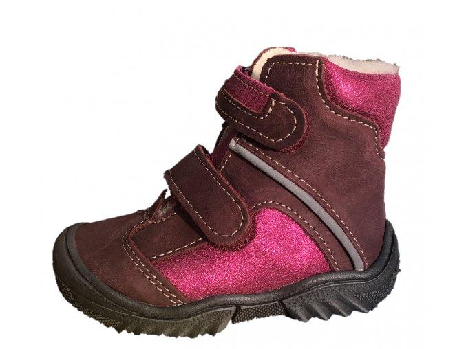 Zimní obuv Jonap 055 mv vínová