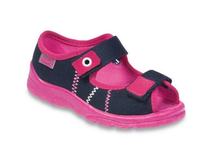 8060 1 969y105 31 divci sandalek s patou tm modra s ruz