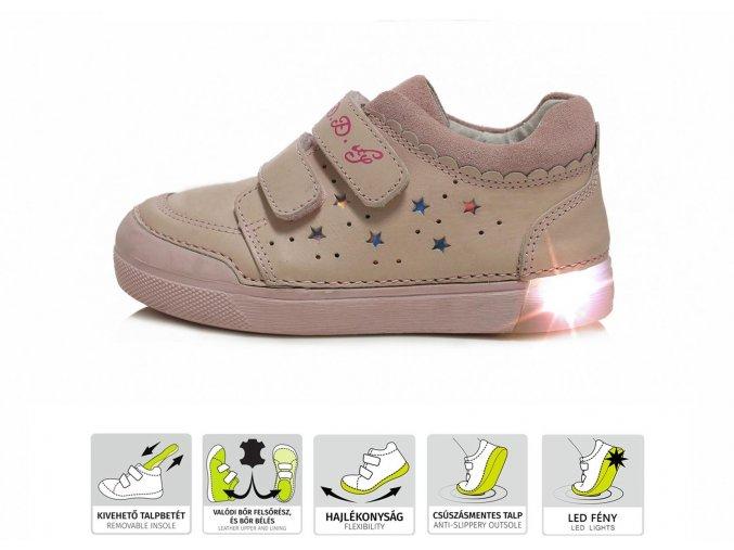 Celoroční obuv D.D.STEP 068-937AL Pink