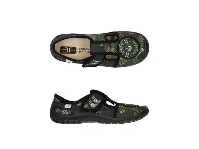 Domácí obuv 3F Zelený Maskáč 4Rx3/6