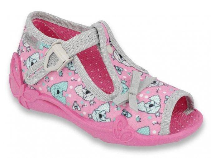 31080 1 213p120 18 divci sandalky befado ruzove pejsci
