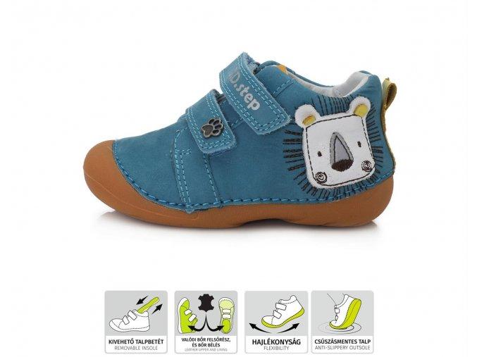 Celoroční obuv D.D.STEP 015-459 BERMUDA BLUE