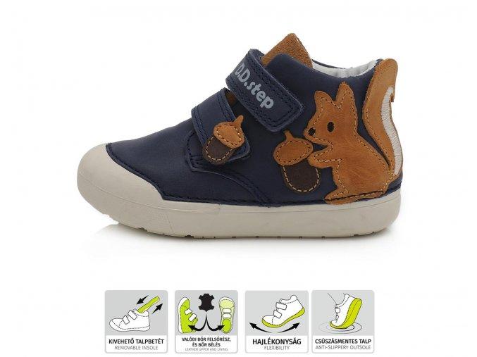 Celoroční obuv D.D.STEP 066-750 Royal Blue
