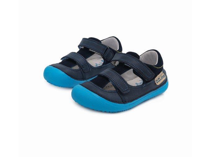 Kožené Sandále D.D.STEP 063-237L Modrá