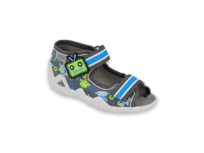 33516 1 250p098 18 chlapecke sandalky befado 2sz modre
