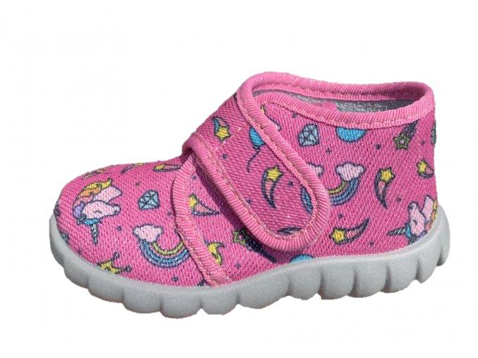 Domácí obuv Fischer 611542-319 pinkbunt