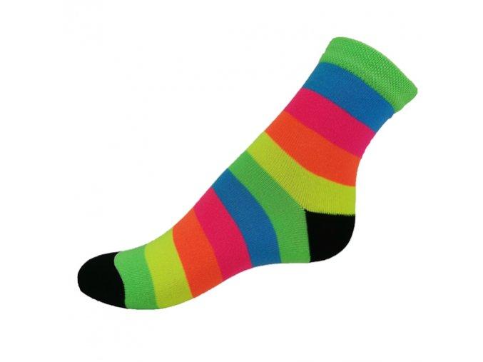 ponožky NEON SPORT proužek