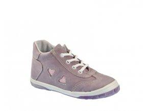 Celoroční obuv Jonap 029M/ Srdce fialové