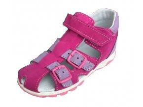 Jonap sandál 017N růžovo-fialová