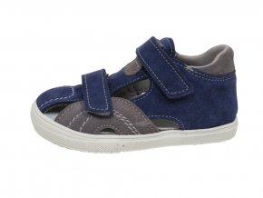 Kožené sandále Jonap modro/šedé