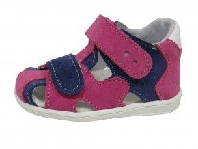 Kožené sandále Jonap růžovo/modré
