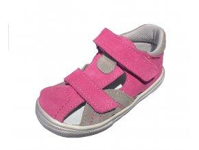 Kožené sandále Jonap růžovo/šedé