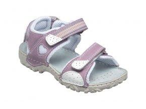 Kožené sandále Santé fialová