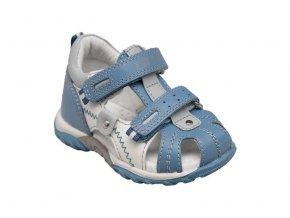 Kožené sandále Santé modrá