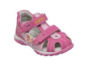 Kožené sandále Santé růžová
