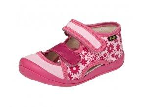 Textilní sandále růžové
